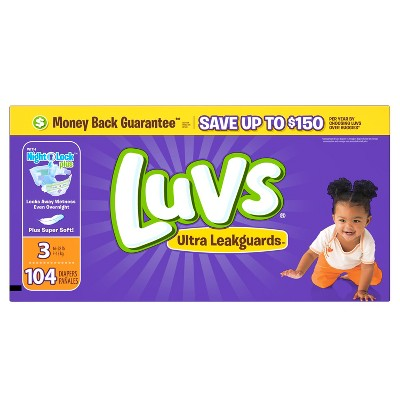 Luvs Diapers Big Pack Size 3 104 ct