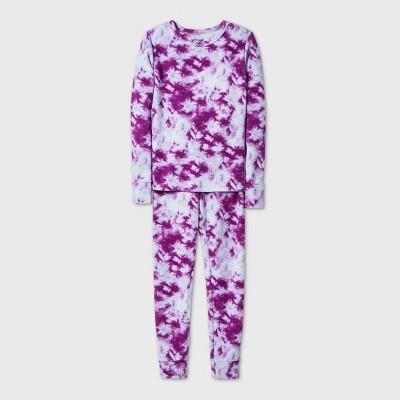 Girls' 2pc Snuggly Soft Tight Fit Pajama Set - Cat & Jack™ Purple 6