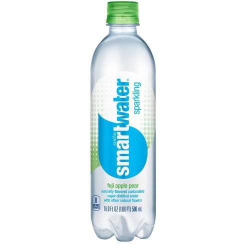 Smartwater Fuji Apple Pear Sparkling Water - 16.91 fl oz Bottle - image 1 of 3