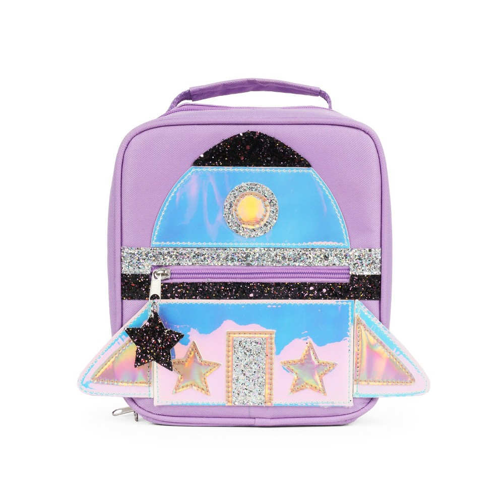 Image of FAB L2D Holographic Rocket Lunch Bag - Baby Purple