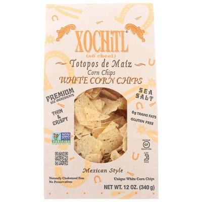 Xochitl Sea Salt White Corn Chips 12oz 12 pk