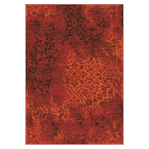 Clayburn Overdye Area Rug Red - Orian - image 1 of 3