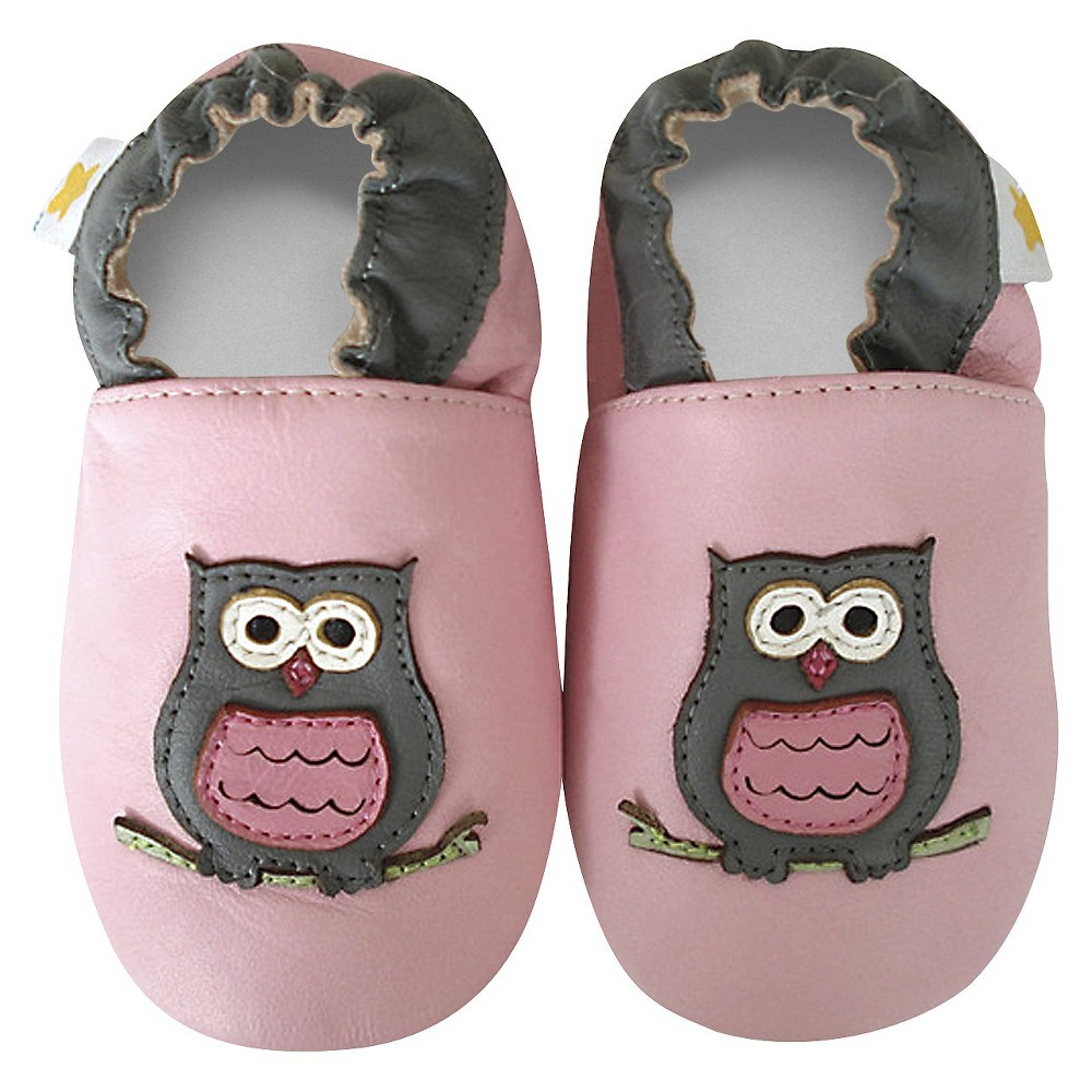 Ministar Baby Girls' Owl shoe - Small, Pink
