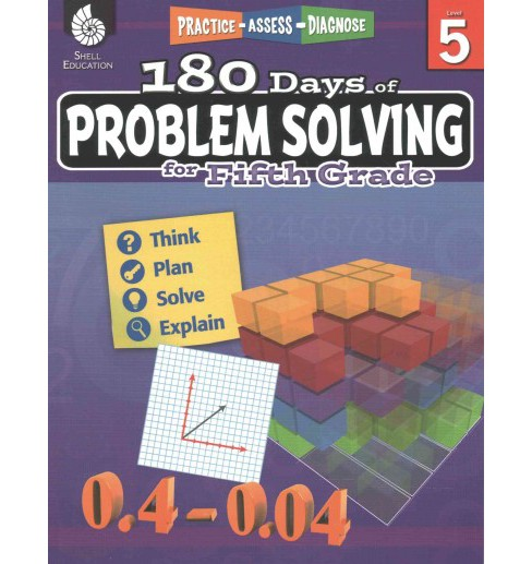 180 Days of Problem Solving for Fifth Grade (Paperback) (Stacy Monsman) - image 1 of 1