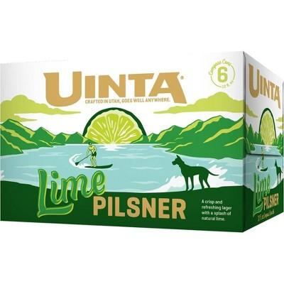 Uinta Lime Pilsner Beer - 6pk/12 fl oz Cans