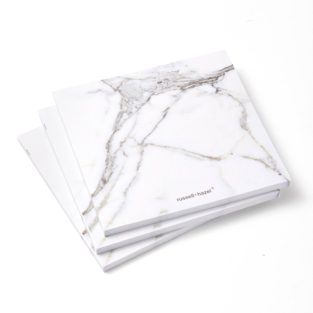 Russell Hazel Marble Memo Adhesive Notes 150ct