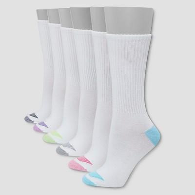 Hanes Premium 6 Pack Women's Cool Comfort Lightweight Crew Socks 5-9
