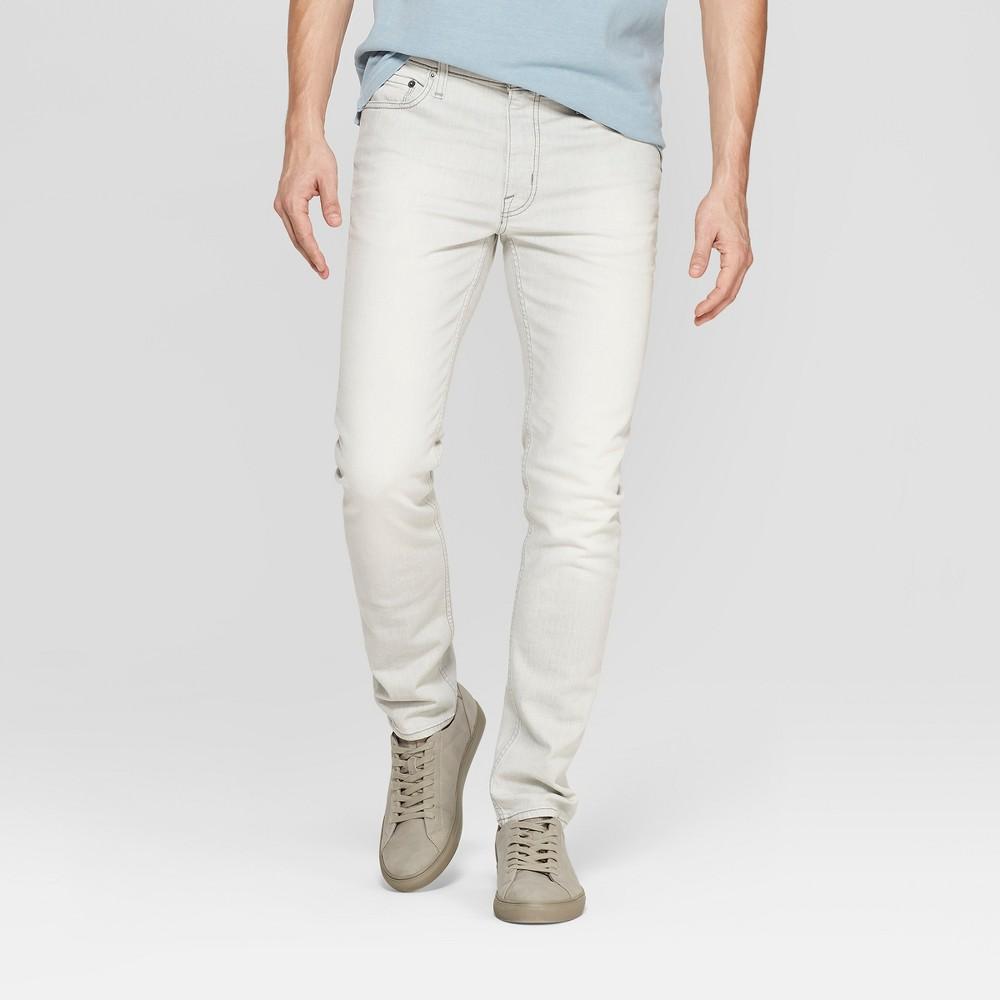 Men's Slim Fit Jeans - Goodfellow & Co Light Gray 38x32