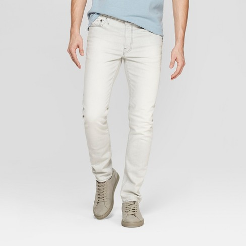 Men's Slim Fit Jeans - Goodfellow & Co™ Light Gray - image 1 of 3