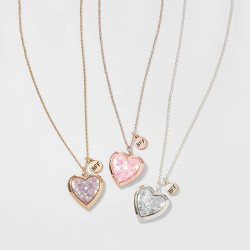 Girls' 3pk Confetti Heart Necklace - Cat & Jack™ Gold/Silver