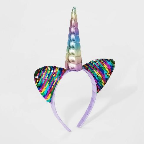 Girls' Caticorn Headband - Cat & Jack™ Rainbow - image 1 of 1