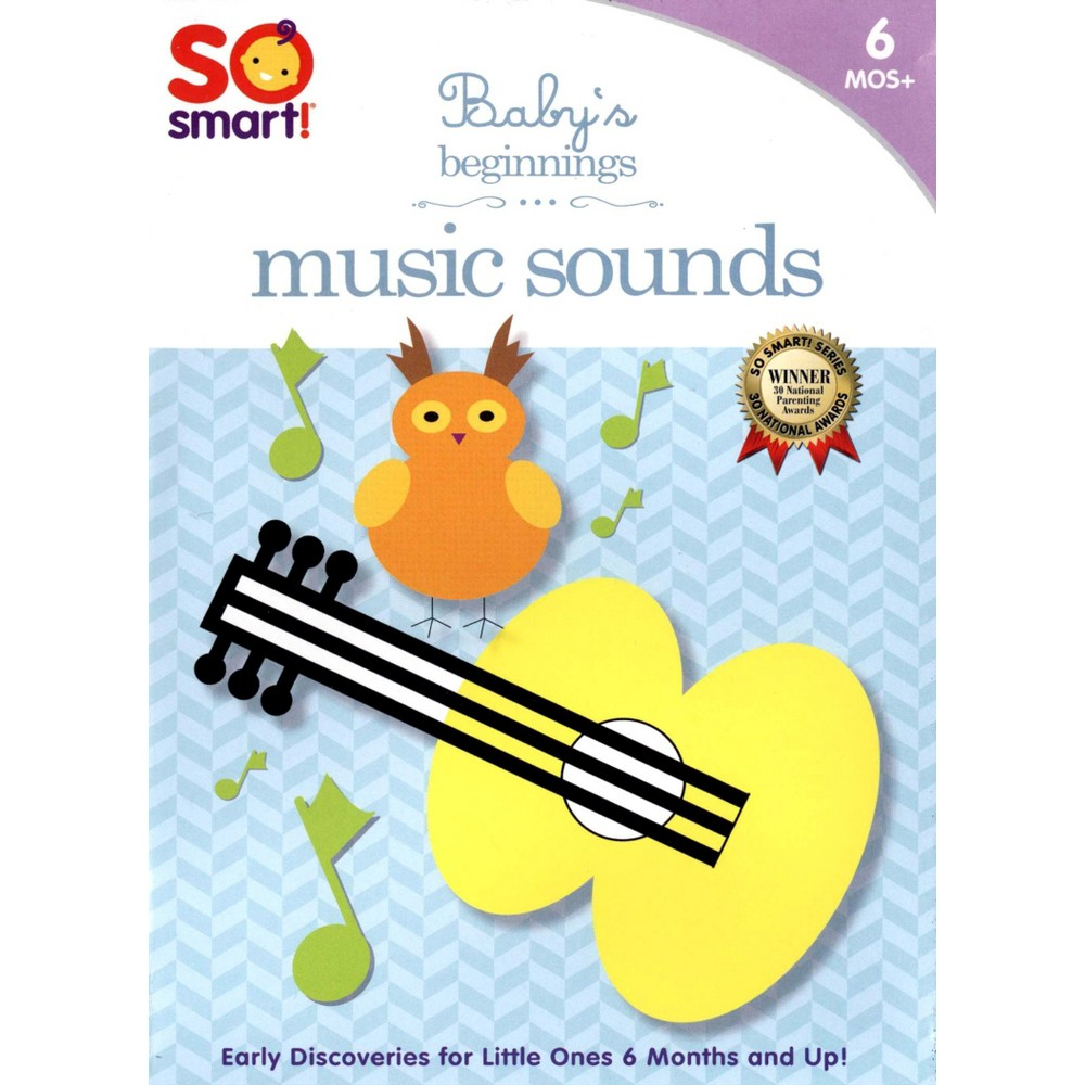 So Smart:Baby's Beginning Music Sound (Dvd) From the award-winning Baby School Company, Musical Instruments exposes toddlers to the sounds of different musical instruments by associating them with animals from elephants to frogs. Musical Instruments is suitable for children six months to three years of age.