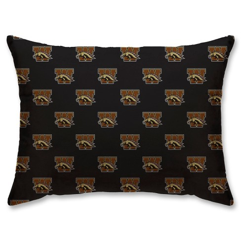 NCAA Western Michigan Broncos Super Plush Repeat Logo Bed Pillow - image 1 of 1