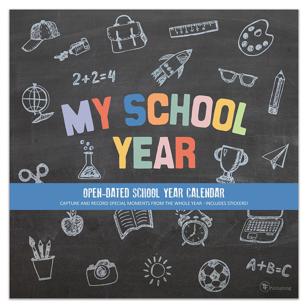 Image of 2018-19 Academic Wall Calendar My School Year - TF Publishing