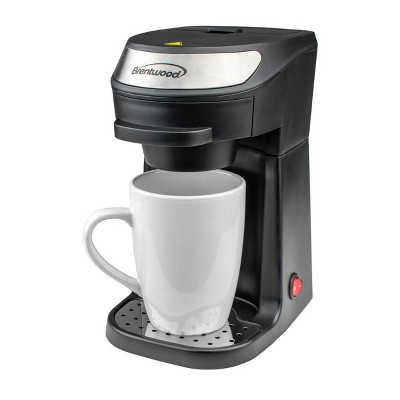 Brentwood Single Serve Coffee Maker in Black with Mug
