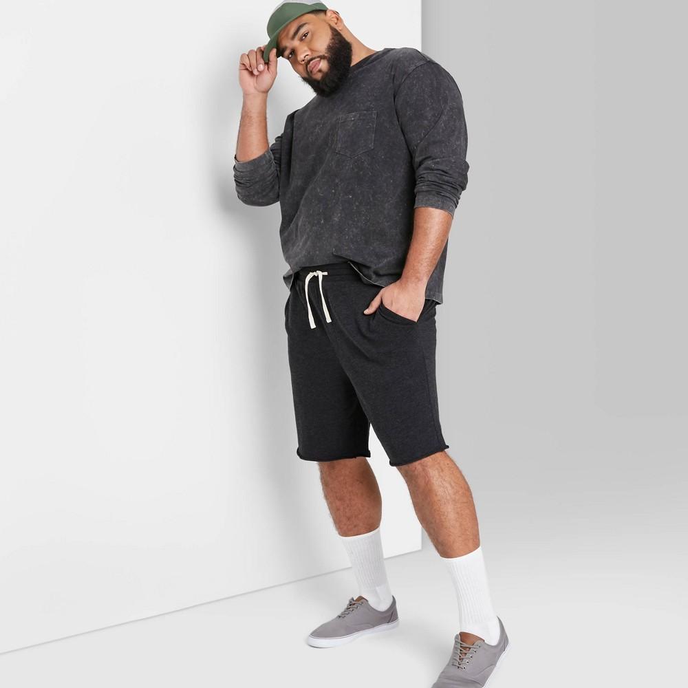 Men 39 S Big 38 Tall 10 5 34 Regular Fit Bottoms Jogger Shorts Original Use 8482 Black 3xbt