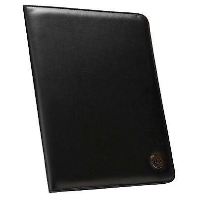 Case It Letter Size Black Faux Leather Padfolio