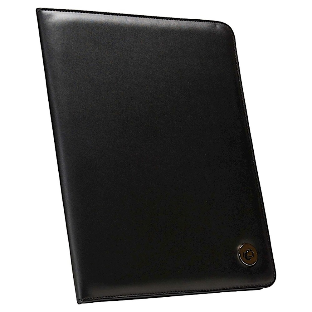 Image of Case It 10.5x8.5 Black Faux Leather Padfolio
