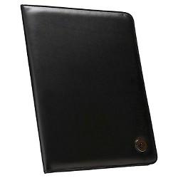 Case It 10.5x8.5 Black Faux Leather Padfolio
