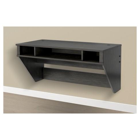 Designer Floating Desk Wash Black - Prepac - image 1 of 1