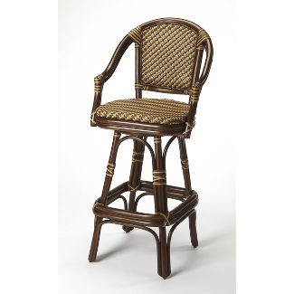 Renata Rattan Bar Stool Brown - Butler Specialty