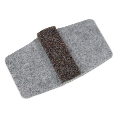 Master Manufacturing Wrap Around Felt Floor Savers 7 1/4 x 1 x 8 Gray/Black 16/Pack 88458
