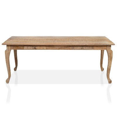 Serreno 2 Drawer Dining Table Natural - HOMES: Inside + Out