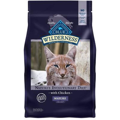 Blue Buffalo Wilderness Grain Free with Chicken Mature Premium Dry Cat Food