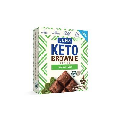 Luna Keto Brownie Bites Chocolate Mint - 4pk