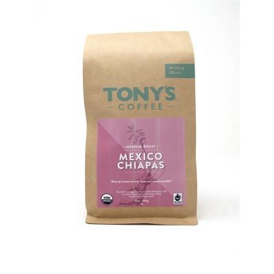 Tony's Coffee Mexico Chiapas Medium Dark Roast Whole Bean Coffee - 12oz