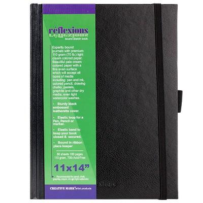 """Creative Mark Reflexions Hardbound Sketchbooks 11"""" x 14"""", Off-White"""