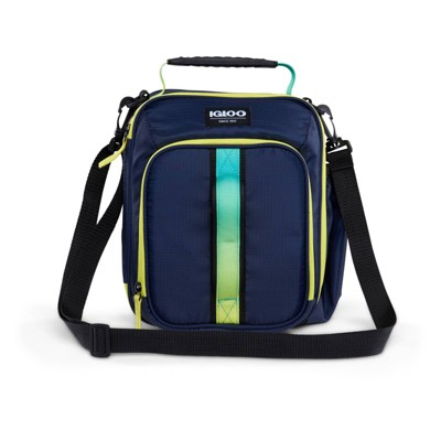 Igloo Hot Brights Vertical Classic Molded Lunch Bag - Navy with Ombre Webbing