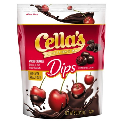 Cella's Dips Whole Cherries in Rich Dark Chocolate - 6oz - image 1 of 1