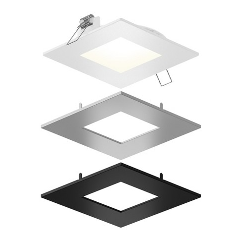Dals Lighting Spn6sq Cc 3t Ultraslim 6 Square Led Recessed Fixture