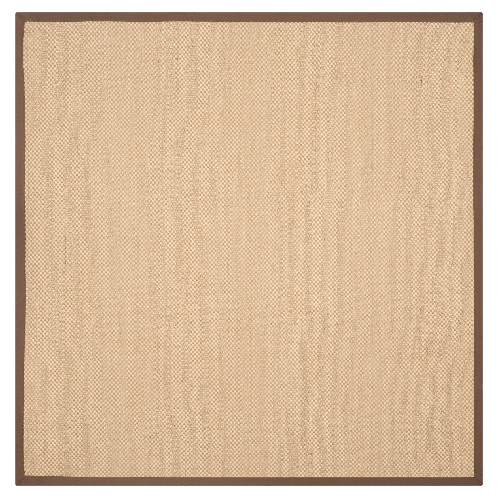 Natural Fiber Rug - Maize/Brown (Yellow/Brown) - (6'x6' Square) - Safavieh