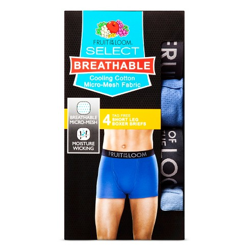 Fruit Of The Loom® Men s 4pk Breathable Shorts Leg Boxer Briefs - Navy Blue    Target 862908ed3ba3
