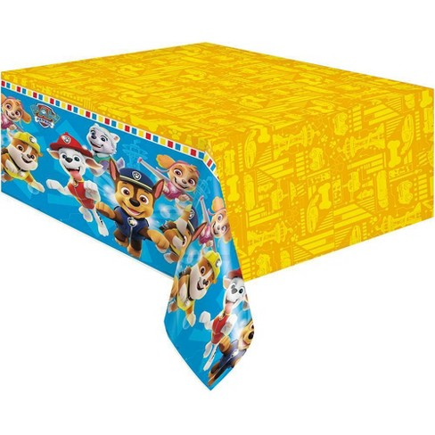 """PAW Patrol 84""""x54"""" Reusable Tablecover Yellow/Blue - image 1 of 4"""
