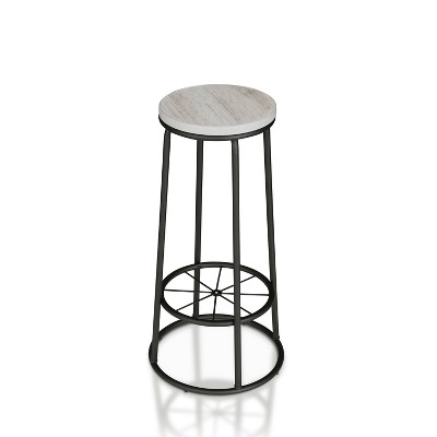 """Set of 2 33"""" Pilat Barstools with Wood Seat White - HOMES: Inside + Out"""