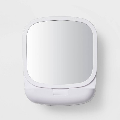 Swivel Suction Mirror White - Room Essentials™