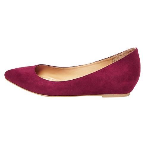 41835604429f Women's Drew Pointed Toe Flats - Merona™ Burgundy 7 : Target