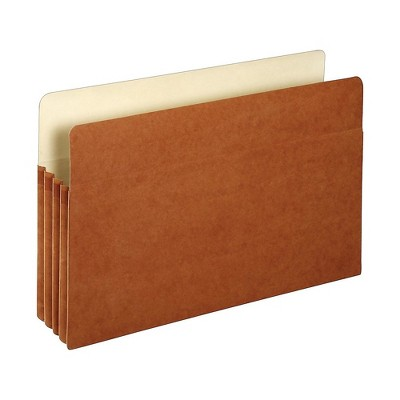 "Staples File Pockets 3.5"" Expansion Legal Size Brown 25/Box (1526ES) TR418319"