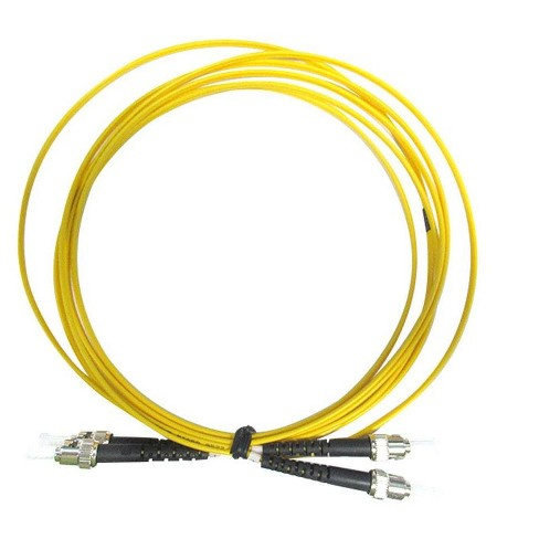 Monoprice Fiber Optic Cable - 1 Meter, ST/UPC-ST/UPC, G657A1, Single Mode, Duplex, 2mm, OFNR - image 1 of 1