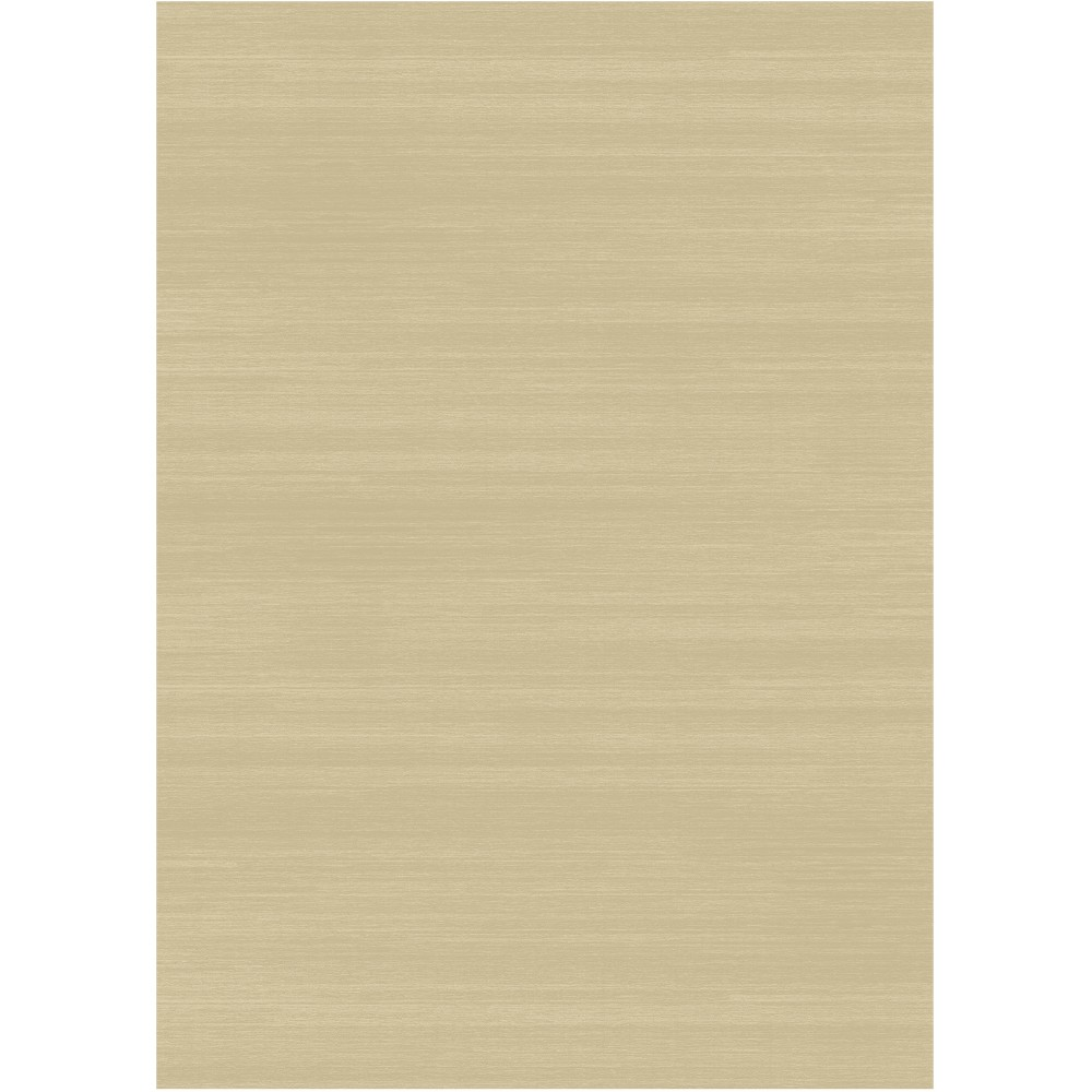 Cream (Ivory) Solid Woven Area Rug 5'X7' - Ruggable