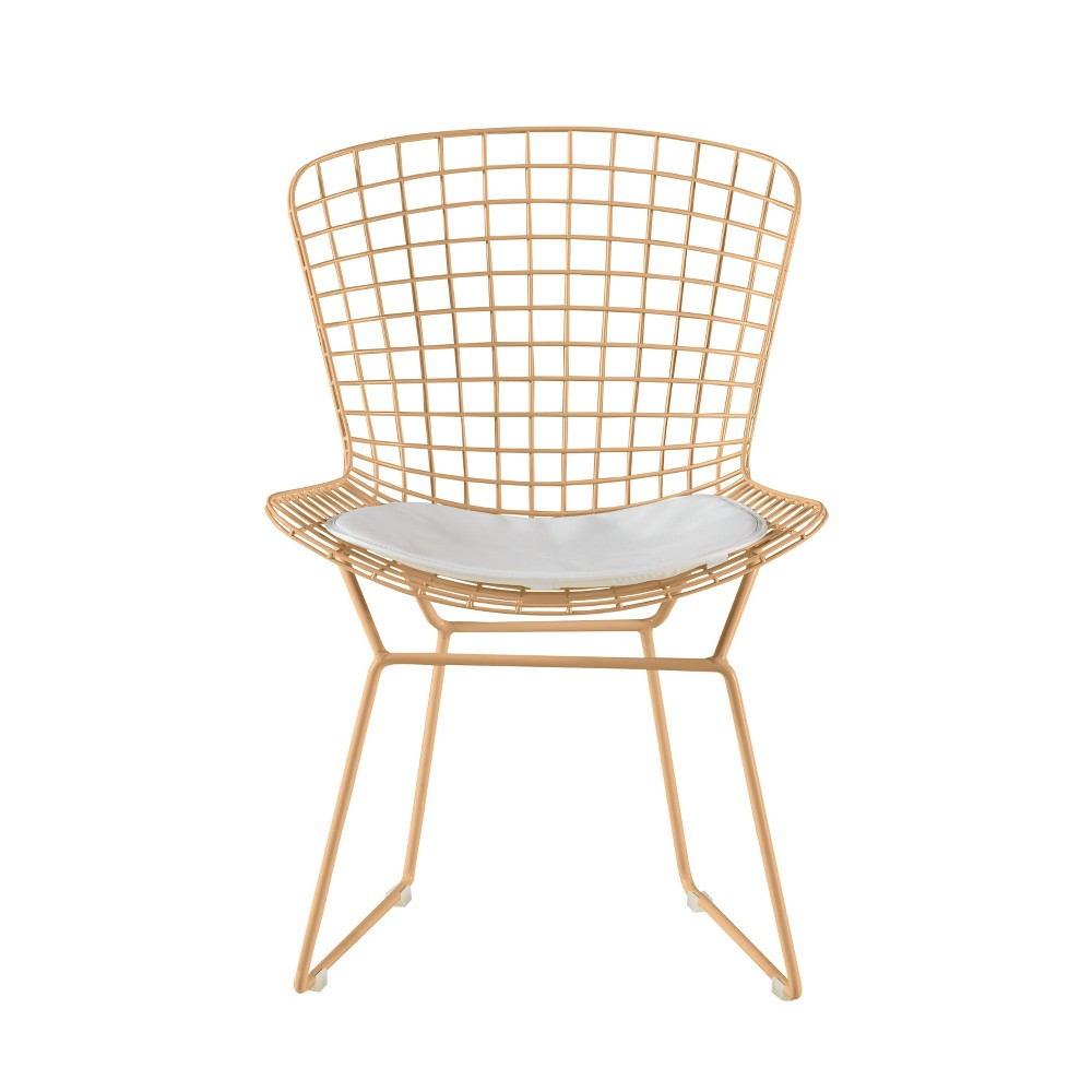 Holly Wire Chair Set of 2 Gold - Adore Decor