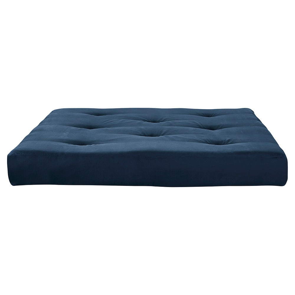 "Image of ""6"""" Full Coil Futon Mattress with Certified Foam Blue - Room & Joy"""