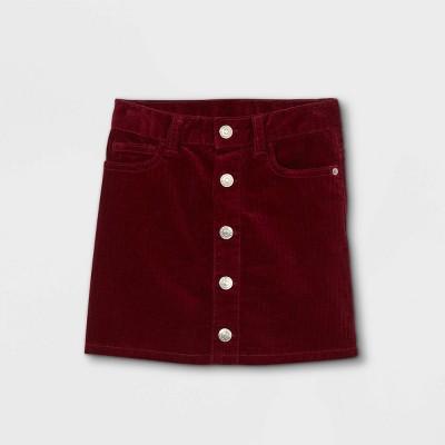 Toddler Girls' Corduroy Button-Front Skirt - Cat & Jack™ Burgundy