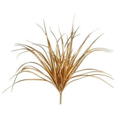 "Northlight 19"" Gold Glittered Artificial Grass Christmas Pick"