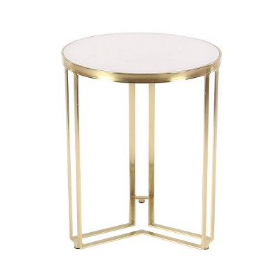 Contemporary Iron Accent Table Gold - Olivia & May