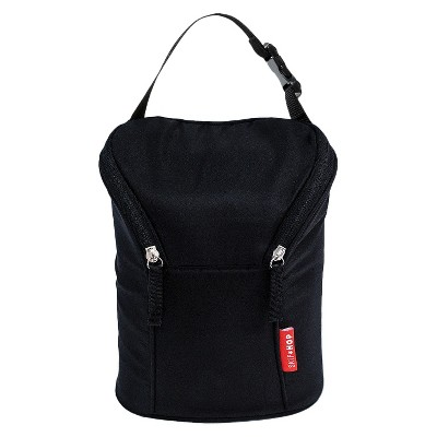 Skip Hop Grab and Go Double Bottle Bag, Black