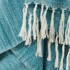 """50""""x60"""" Stripe Throw Blanket Teal - Rizzy Home - image 2 of 4"""
